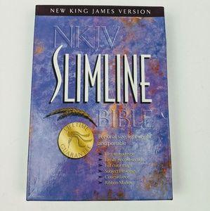 NKJV Slimline Bible New Leather